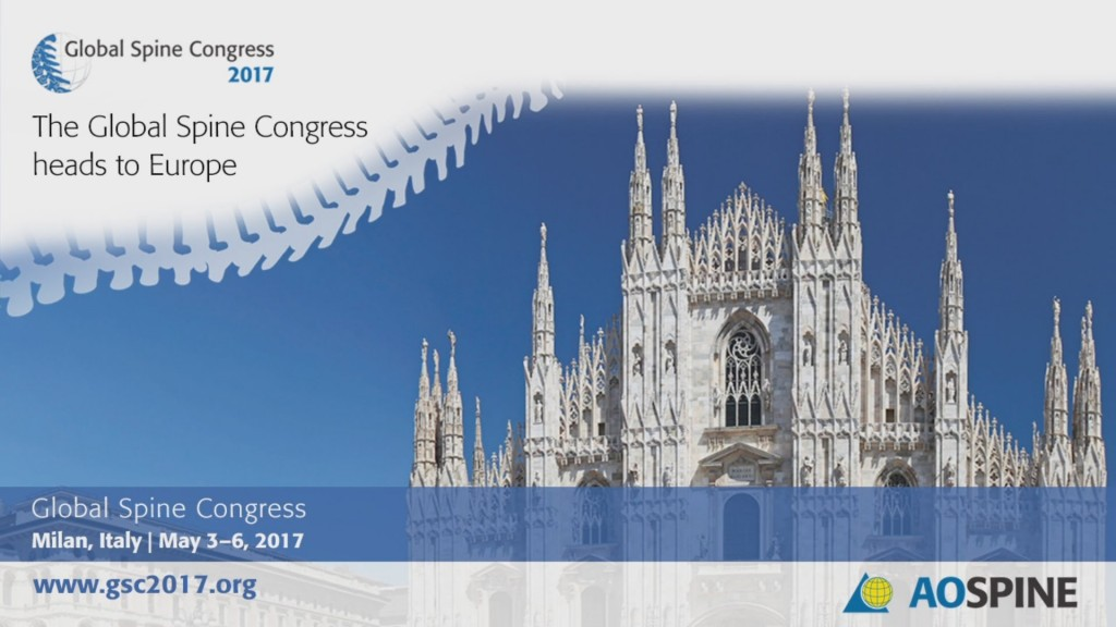 GLOBAL SPINE CONGRESS 2017, MILAN